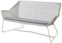 Cane-line Breeze lounge bank - white-grey