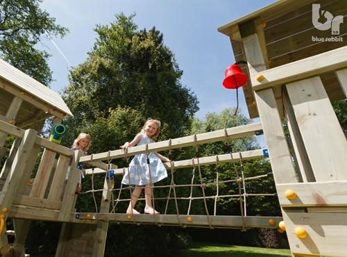 Blue Rabbit 2.0 - @bridge - verbinding brug met klimnet, incl. houtpakket