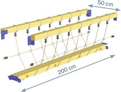 Blue Rabbit 2.0 - @bridge - verbinding brug met klimnet, incl. houtpakket-3