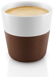 Eva Solo Espresso koffiemok, inhoud 80 ml, bruin, per 2 st.