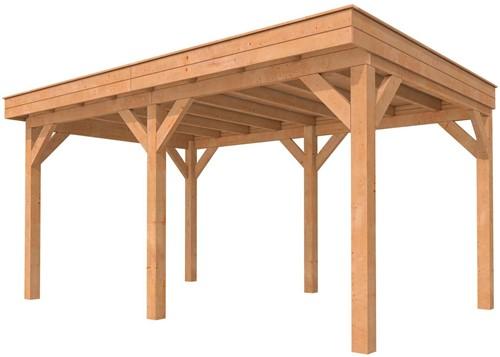 Buitenverblijf plat dak premium, basis afm. 500 x 400/430 cm