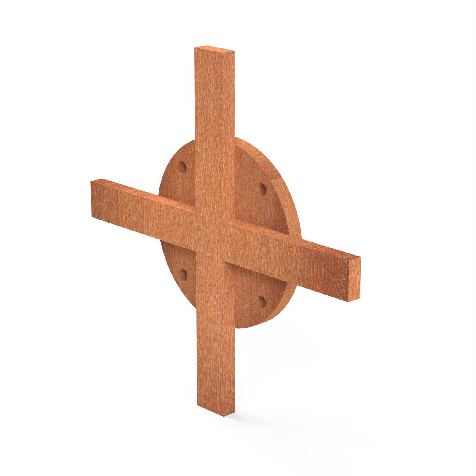 Burni verwarming Burni Bunke koppelstuk kruis 14x14 cm corten