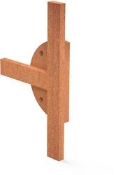 Burni Bunke koppelstuk T-stuk 14x8 cm corten
