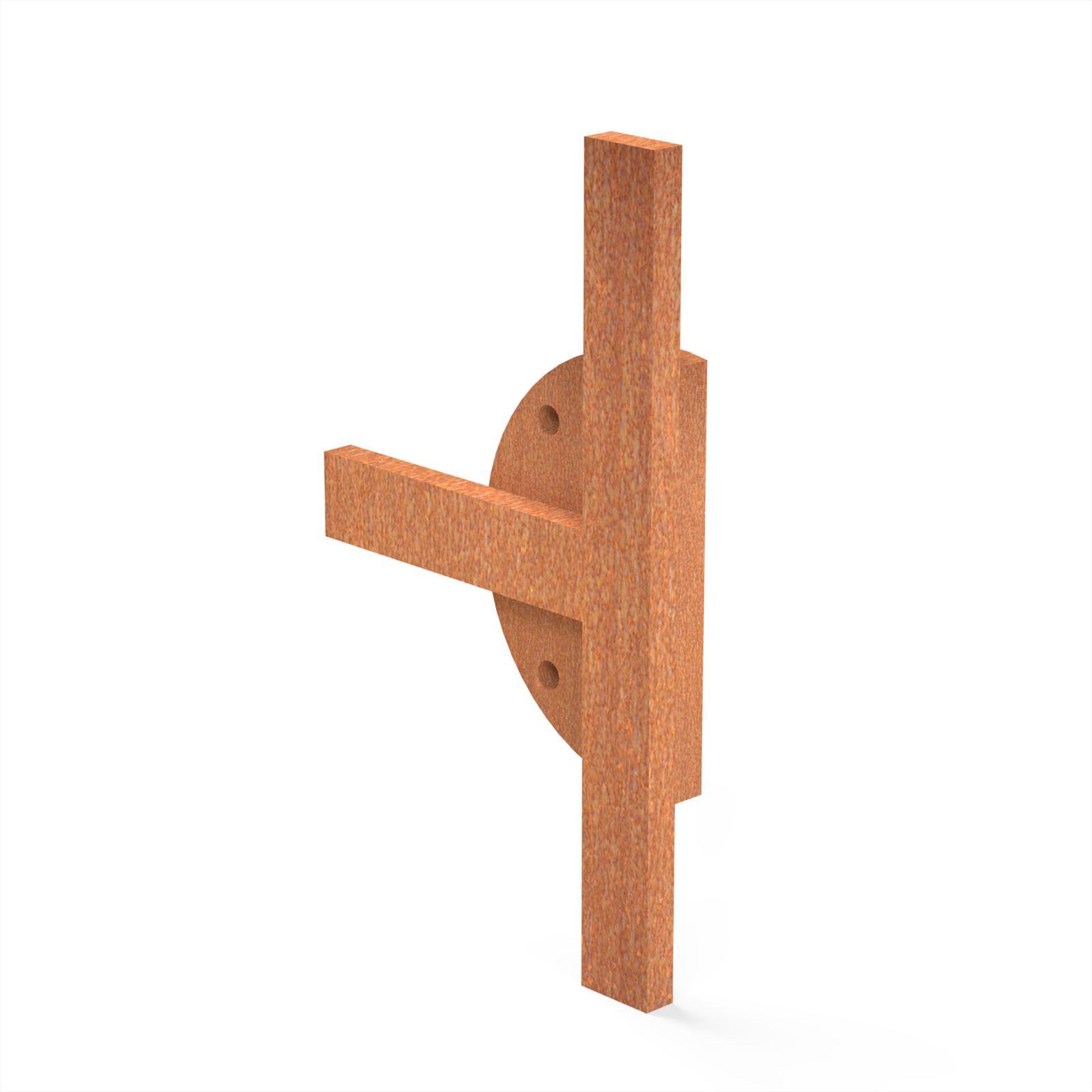 Burni verwarming Burni Bunke koppelstuk T-stuk 14x8 cm corten