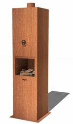 Burni terrashaard Borr, afm.  50 x 50 x 200 cm, 3 mm cortenstaal