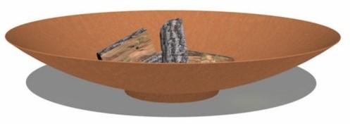 Burni vuurschaal, diam. 100, hoogte 21 cm, 3-4 mm cortenstaal