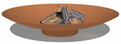 Burni vuurschaal, diam. 120 cm, hoogte 21 cm, 3-4 mm cortenstaal