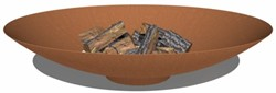 Burni vuurschaal, diam. 150 cm, hoogte 33 cm, 3-4 mm cortenstaal