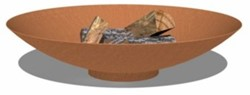 Burni vuurschaal, diam.  80 cm, hoogte 21 cm, 3-4 mm cortenstaal