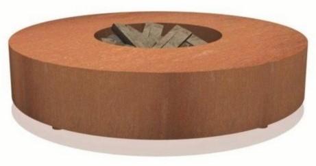 Burni vuurtafel, diam. 175 cm, hoogte 28 cm, 3 mm cortenstaal