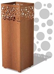 Burni vuurzuil  Arkin, afm. 40 x 40 x 100  cm, 3 mm cortenstaal