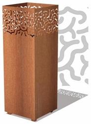Burni vuurzuil Jari, afm.  40 x 40 x 100 cm, 3 mm cortenstaal