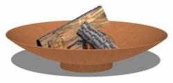 Burni vuurschaal, diam.  60 cm, hoogte 14 cm, 3-4 mm cortenstaal