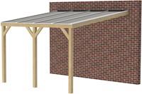 Butterfly veranda, afm. 700 (b) x 300 (d) cm,  heldere dakplaat, geïmpregneerd vuren-1