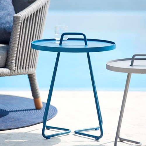 Cane-Line On-the-move tafel, small, dusty blue-2
