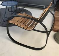 Cane-Line Parc rocking chair lava-grey