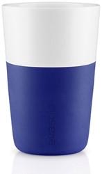 Eva Solo Caffé latte mok, inhoud 360 ml, blauw, per 2 st.