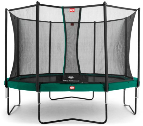 BERG Champion trampoline, diam. 330 cm. - veiligheidsnet Comfort - groen