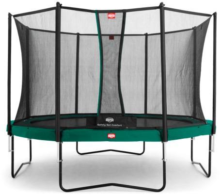 BERG Champion trampoline, diam. 380 cm. - veiligheidsnet Comfort - groen