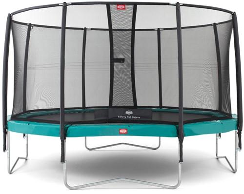 BERG Champion trampoline, diam. 380 cm. - veiligheidsnet Deluxe - groen