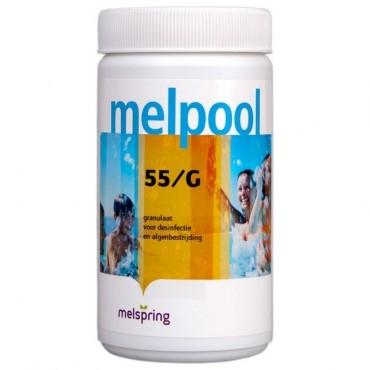 55/G chloorgranulaat voor jacuzzi, sneloplossend voor desinfectie en chloorschock, 1 kg