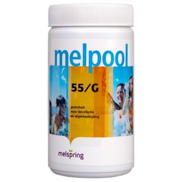 Melpool 55/G chloorgranulaat voor jacuzzi, sneloplossend voor desinfectie en chloorschock, 1 kg