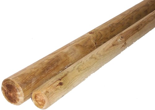 cilindrisch grenen palen Ø6 - 120 cm, geïmpregneerd, ongepunt