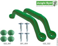 Jungle Gym handgreep, groen (per paar)
