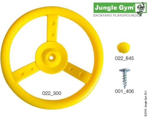 Jungle Gym steering wheel, geel