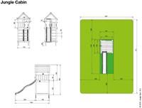 Jungle Gym speeltoren Jungle Cabin, montagekit inclusief glijbaan en houtpakket op maat gezaagd  -2