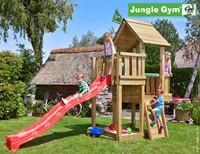 Jungle Gym speeltoren Jungle Cubby, montagekit inclusief glijbaan en houtpakket op maat gezaagd