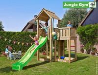 Jungle Gym speeltoren Jungle Mansion, montagekit inclusief glijbaan en houtpakket op maat gezaagd