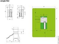 Jungle Gym speeltoren Jungle Hut, montagekit inclusief glijbaan houtpakket op maat gezaagd -2