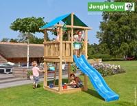 Jungle Gym speeltoren Jungle Hut, montagekit inclusief glijbaan houtpakket op maat gezaagd