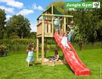 Jungle Gym speeltoren Jungle Lodge, montagekit met glijbaan en houtpakket op maat gezaagd