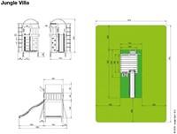 Jungle Gym speeltoren Jungle Villa, montagekit inclusief glijbaan en houtpakket op maat gezaagd-2