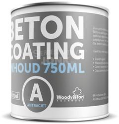 betoncoating antraciet RAL7016 - 0,75 liter