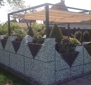 Schanskorf, afm. 60 x 85 x 30 cm, triangle, verzinkt staal, 5 x 5 cm-2