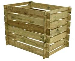 Woodvision compostsilo, afm. 97 x 70 x 70 cm (bxdxh), geïmpregneerd grenen