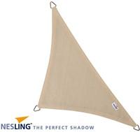 Nesling Coolfit schaduwdoek, driehoek met 90 graden hoek, afmeting 5 x 5 x 7,1 m, gebroken wit