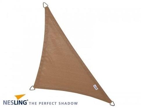 Nesling Coolfit schaduwdoek, driehoek met 90 graden hoek, afmeting 4 x 4 x 5,7 m, zand