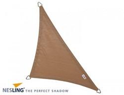 Nesling Coolfit schaduwdoek, driehoek met 90 graden hoek, afmeting 5 x 5 x 7,1 m, zand