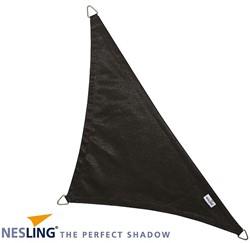 Nesling Coolfit schaduwdoek, driehoek met 90 graden hoek, afmeting 5 x 5 x 7,1 m, zwart