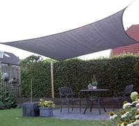 Nesling Coolfit schaduwdoek, vierkant, afmeting 3,6 x 3,6 m, antraciet-2