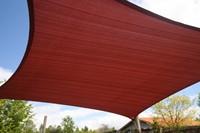 Nesling Coolfit schaduwdoek, vierkant, afmeting 5 x 5 m, terra-2