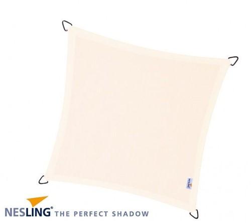 Nesling Coolfit schaduwdoek, vierkant, afmeting 5 x 5 m, gebroken wit