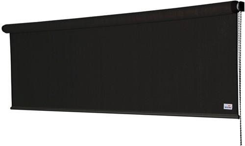 Nesling Coolfit rolgordijn, afm. 1,48 x 2,4 m - coolfit zwart