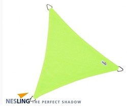 Nesling Coolfit schaduwdoek, driehoek, afmeting 3,6 x 3,6 x 3,6 m, lime groen