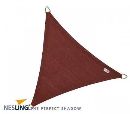 Nesling Coolfit schaduwdoek, driehoek, afmeting 5 x 5 x 5 m, terra