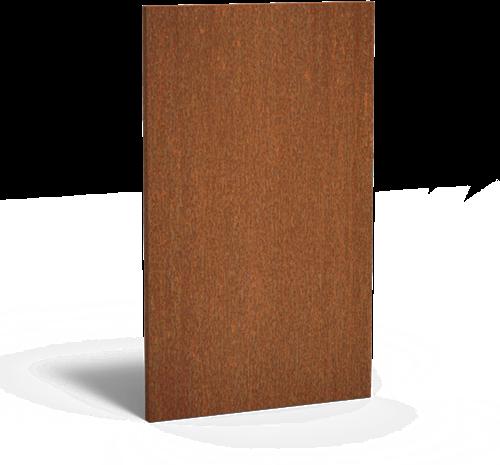 cortenstalen tuinscherm, afm. 110x5x180 cm